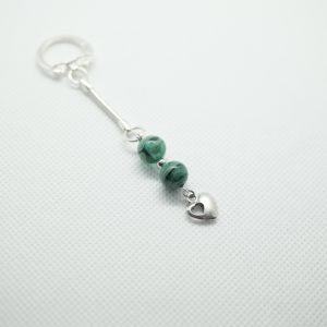 Bijoux porte clés perle verre Murano