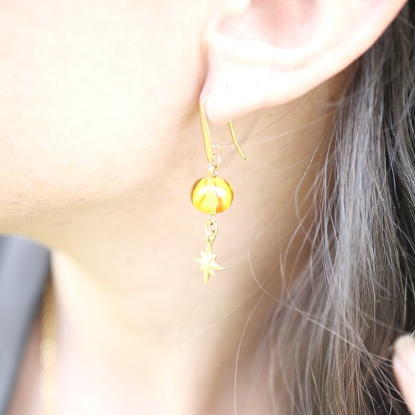 boucles oreilles perle verre murano