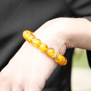 bracelet perle verre murano ambre